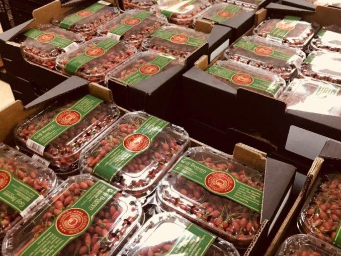 Frische Gojibeeren aus Marokko in Deutschland im Supermarkt